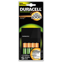 Duracell Ion Speed 1000 Advanced Charger Includes 4 Aa Nimh Batteries Cef14