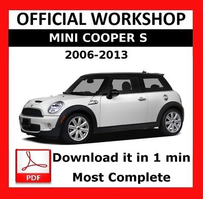Official Workshop Manual Service Repair Mini Cooper S 2006 2013 Ebay
