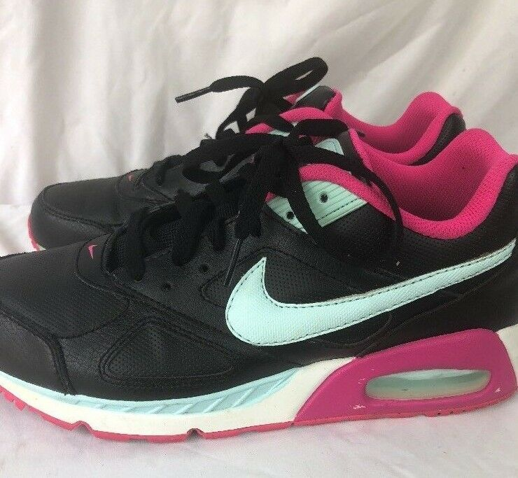 Nike Women's Air Max IVO Leather size 9 black pink green Sneakers Shoes Special limited time
