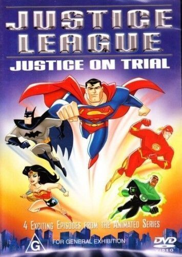 1 of 1 - Justice League Justice On Trial (DVD, 2004) 4 episodes from the animated series
