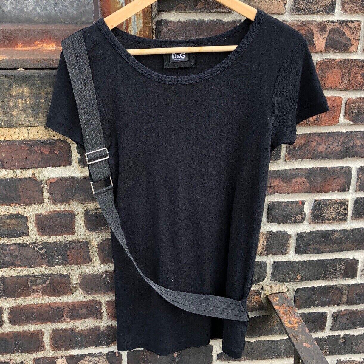 Dolce & Gabbana Black Parachute Strap Knit Cotton… - image 2