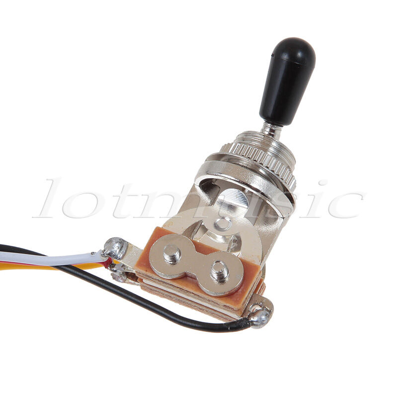 guitar wiring harness with 2 volume 1 tone pots 500k 3 way