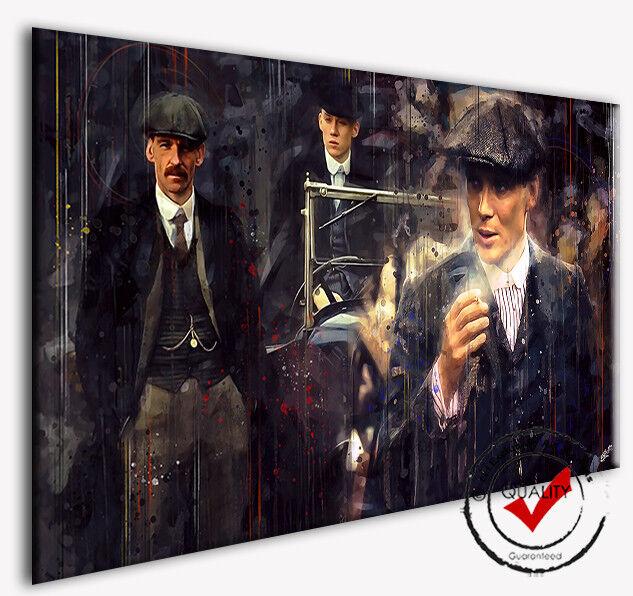 Leinwand Dig.Gemälde Peaky Blinders Kunst Bild Kunstdr. Deko Bilder Wandbild Film