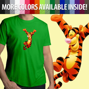 Tigger-Disney-Winnie-the-Pooh-Tiger-Classic-Cartoon-Unisex-Mens-Tee-Crew-T-Shirt