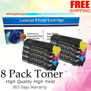 8 PK 2SET CMYK COMBO Color Toner For Okidata Oki C5200 C5300 C5100 C5200 C5400DN