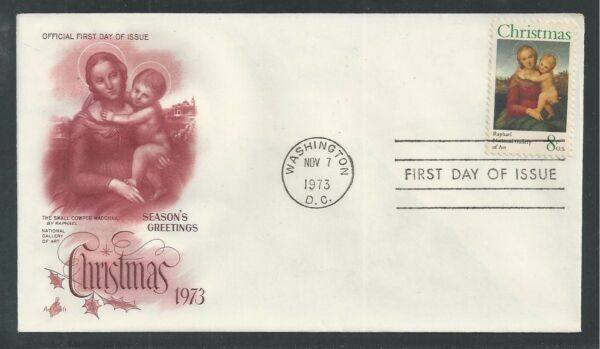 # 1507 CHRISTMAS, MADONNA & CHILD 1973 ArtCraft First Day Cover