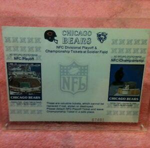 NFL-Chicago-Bears-88-NFC-Playoffs-NFC-Championship-Football-Season-Ticket-Card