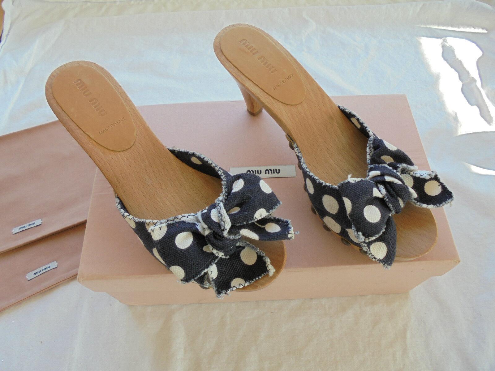 Miu NP: Miu by Prada Clogs NP: Miu  w NEU + OVP Sandalen Pumps Schuhe Pantoletten 37 69ccc7