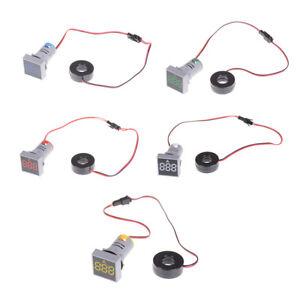 22MM-0-100A-Digital-Ammeter-Current-Meter-Indicators-Led-LampSquare-Signal-Light