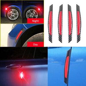 Advertencia-de-cinta-reflectante-4x-rojo-de-seguridad-puerta-de-automovil-Pegatinas-Accesorio-de