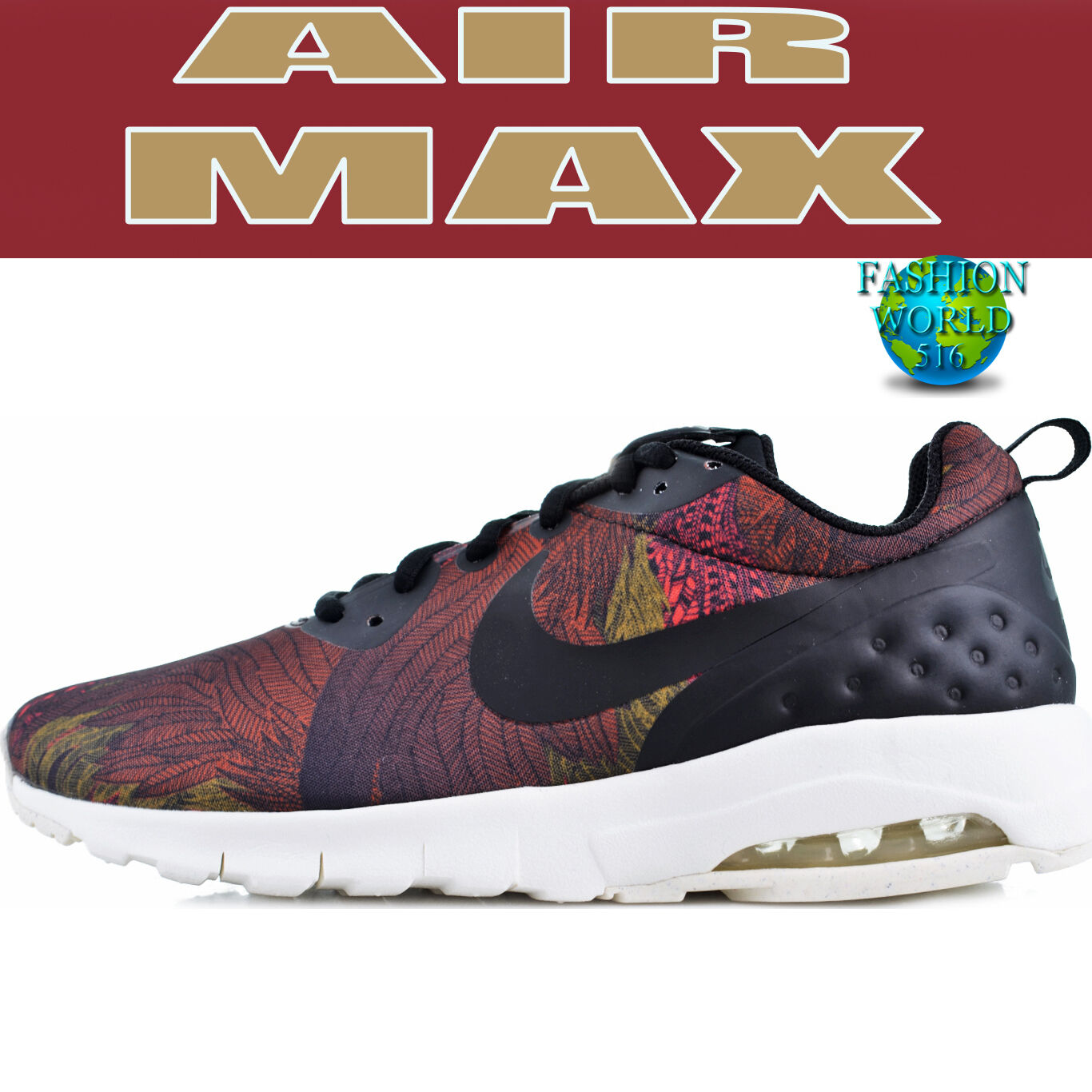 Nike Women's Size 7 Air Max Motion Low Running Sneakers 844890-003 Multi Color