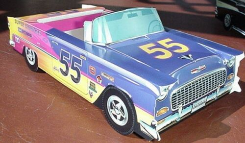 7 Different Chevy Cardboard Classic Cars Kids Food Box Trays Party Planner Favor
