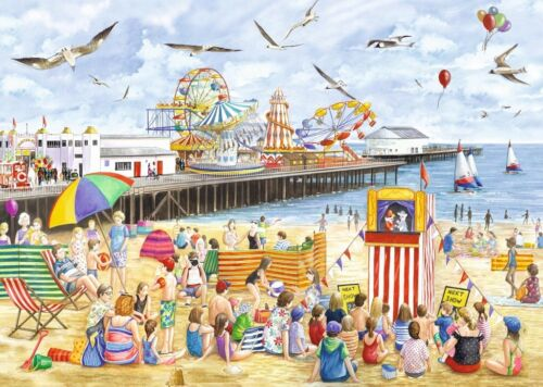 Beach Puzzle 1000 Piece Clacton-On-Sea Seaside Nostalgic Jigsaw Falcon de Luxe