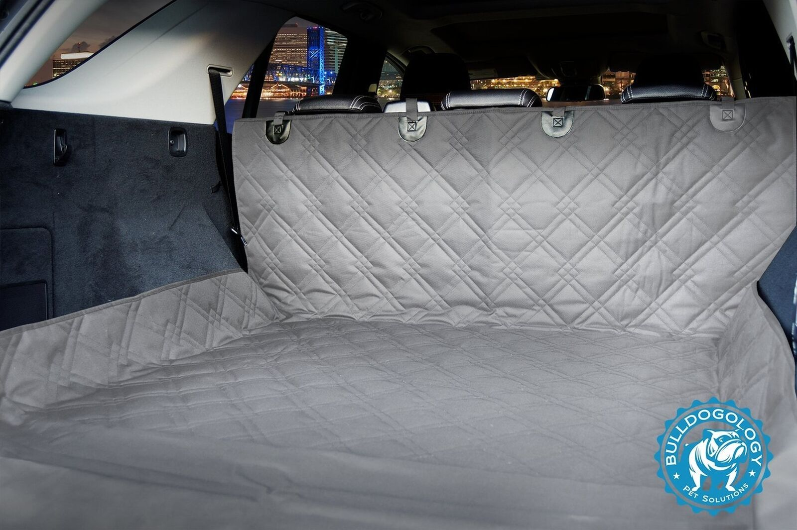 "Bulldogology Heavy Duty Dog Cargo Liner Covers for All Vehicles 55 x82"" grigio"