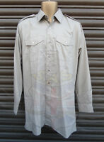 BRITISH ARMY SURPLUS LONG SLEEVE STONE DRESS SHIRT,GOODWOOD,WAR & PEACE REVIVAL