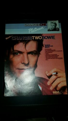 David Bowie Rare Changes One Changes Two Original Promo Poster Ad Framed!