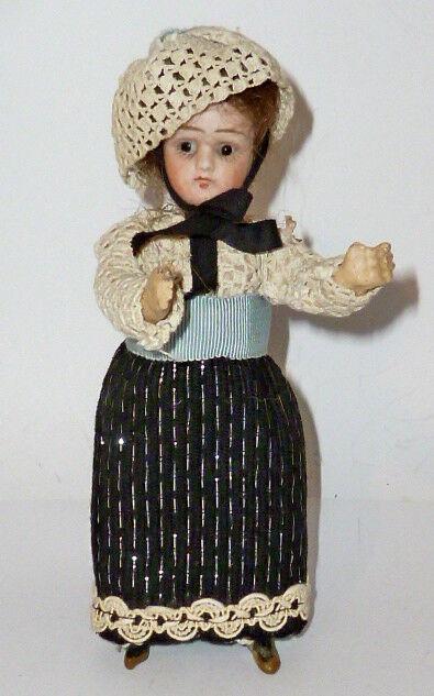ANTIGUO Muñeca de cabeza Porcelana Para Casa Muñecas Francia DOLL 17cm