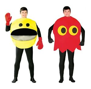 Adult-Yellow-Ghost-80s-90s-Video-Game-Arcade-Fancy-Dress-Costume-Glutton-Arcade