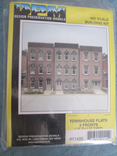DPM Design Preservation Models #11400 Townhouse Flats Front Wall Only