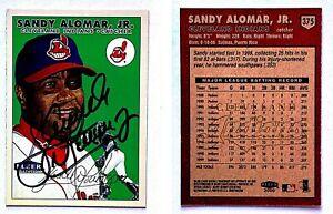 Sandy-Alomar-Jr-Signed-2000-Fleer-Tradition-375-Card-Cleveland-Indians-Auto
