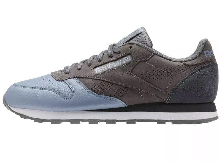 Reebok Classic Leather UE Men's Size 12 Sneaker shoes bluee  Grey BS9937 NEW