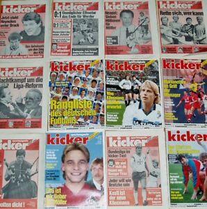 Kicker-Sportmagazin-Sammlungsaufloesung-Heft-Auswahl-1987-1988-1989-1990-1991