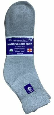3PAIR Yacht /& Smith Men/'s King Size Loose Fit Non-Binding Cotton Diabetic Ankle