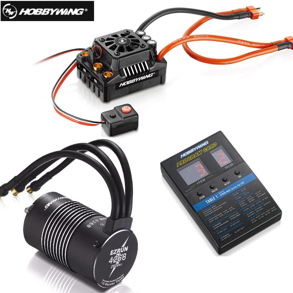 Hobbywing ezrun max8 v3 150a wasserdicht brstenlose esc + + card 4268 kv2600 motor
