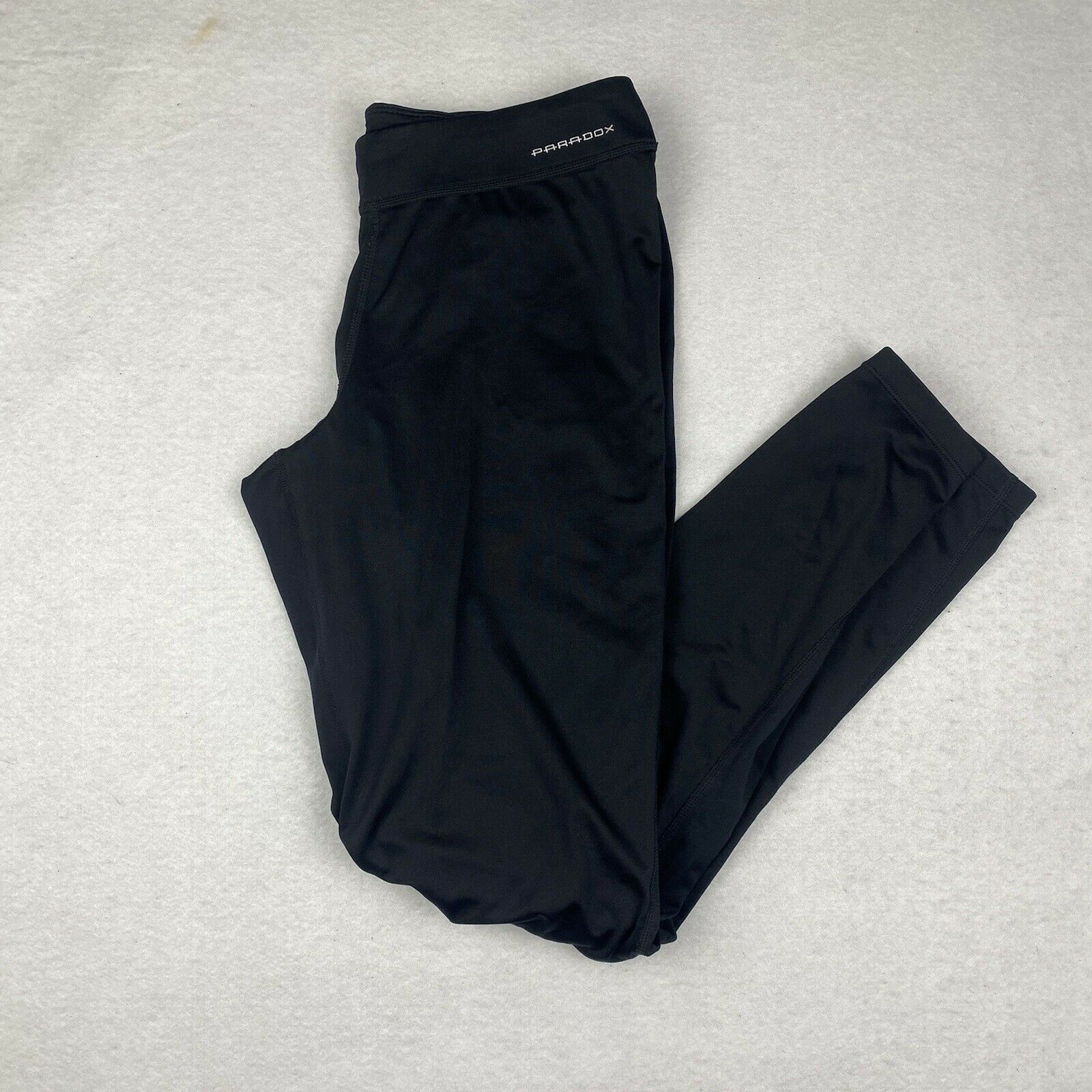 Paradox Base Layer Bottoms Thermal Pants Sports Black Ski Active Women's Size M