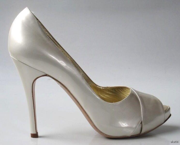 Nouveau  495 Luciano Padovan Pearl Plateformes Talons Hauts Hauts Hauts Chaussures 41 - 11 US 10.5 très jolie 697dfd