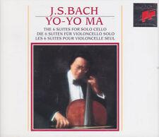 BACH: 6 Suiten für Violoncello solo. Suites for Cello Yo-Yo Ma, 2 CDs, wie neu