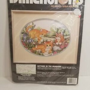 Dimensions-Kittens-In-The-Meadow-Cross-Stitch-Kit-New-Sealed-Cats
