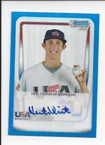 Hunter-Virant-2011-Bowman-Chrome-BLUE-Refractor-99-18U-24-USA-Baseball