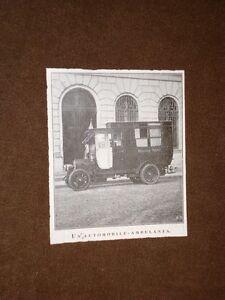 Un-039-auto-o-automobile-ambulanza-in-Italia-nel-1913