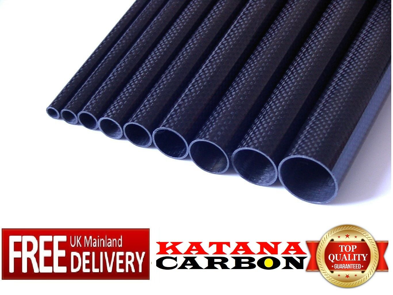 1 x x x 3k Carbon Fiber Tube OD 28mm x ID 26mm x 1000mm (1 m) (Roll Wrapped) Fibre b13014