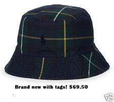 NWT $69.50 POLO-RALPH LAUREN Tartan Oilcloth Blackwatch Plaid Bucket Hat (S-M)