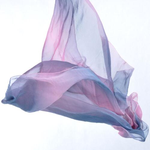 New Belly Dance Costume Gradient Color Silk Shawl Veil 250*120cm 13 colours
