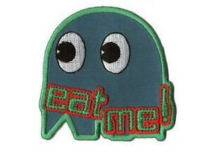 Ecusson-brode-PACMAN-Eat-me-Fantome-Neuf-Pac-Man-patch
