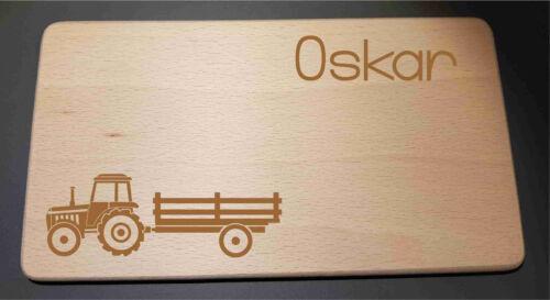 Traktor Name Frühstücksbrettchen Holzbrettchen Brett Brettchen Holzbrett Buche