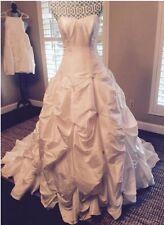 David's Bridal 18 Plus Size Wedding Dress, Ivory Sweetheart Ballgown, Strapless
