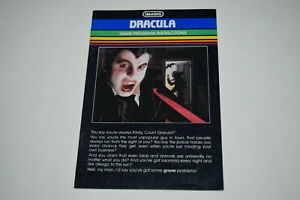 Dracula-Intellivision-Video-Game-Manual-Only
