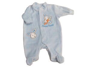 BNWT-premature-boys-little-bunny-velour-little-sleepsuit-tiny-baby-5-8-lb