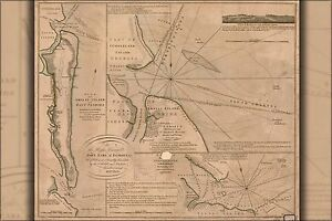 Details about Poster, Many Sizes; Map Of Amelia Island In East Florida 1770