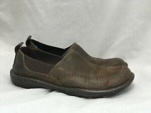 Born-Brown-Leather-Shoes-Women-039-s-Size-US-8-EUR-39-Moc-Hand-Crafted