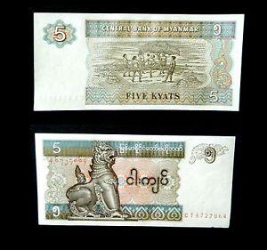 BIRMANIE-MYANMAR-BILLET-DE-5-KYATS-1996-P72-NEUF-FDC-UNC