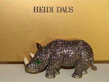 HEIDI DAUS Pave' Crystal Rhinoceros Pin RAVISHING RHINO Sold-Out NIB (JAS)