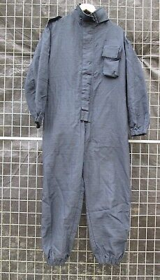 Ex Police Black Ripstop Coveralls With Centre Zipped Fastening Workplace Garage