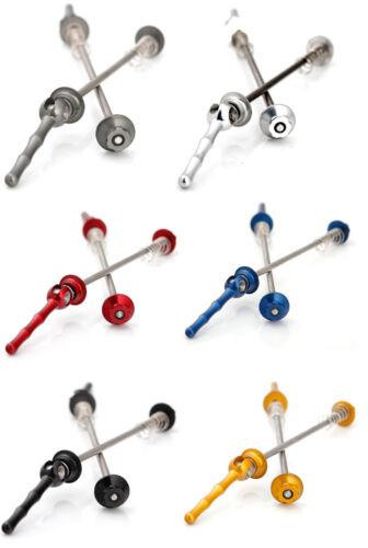 J/&L Ti//Titanium QR//Quick Release Wheel Skewers//Axles-43g//Pair-Ultra Light