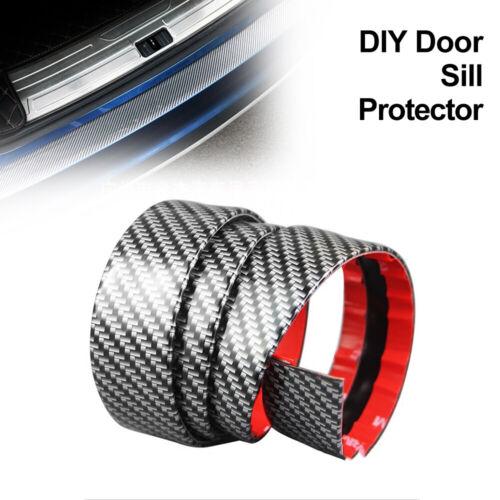 Car Stickers Carbon Fiber DIY Door Decal Sill Protector Edge Guard Strip Film