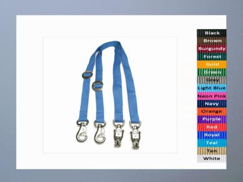 Panic /& Bull Snaps Adjustable CROSS TIES Horse Pony Barn Stable Adjusts 7 feet